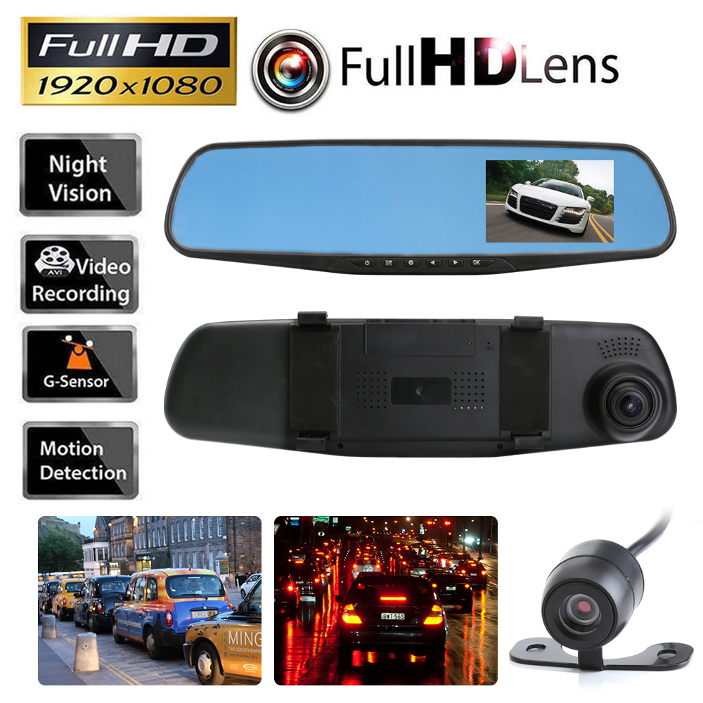 Full-HD-1080p-Dual-Cameras-on-Rearview-Mirror