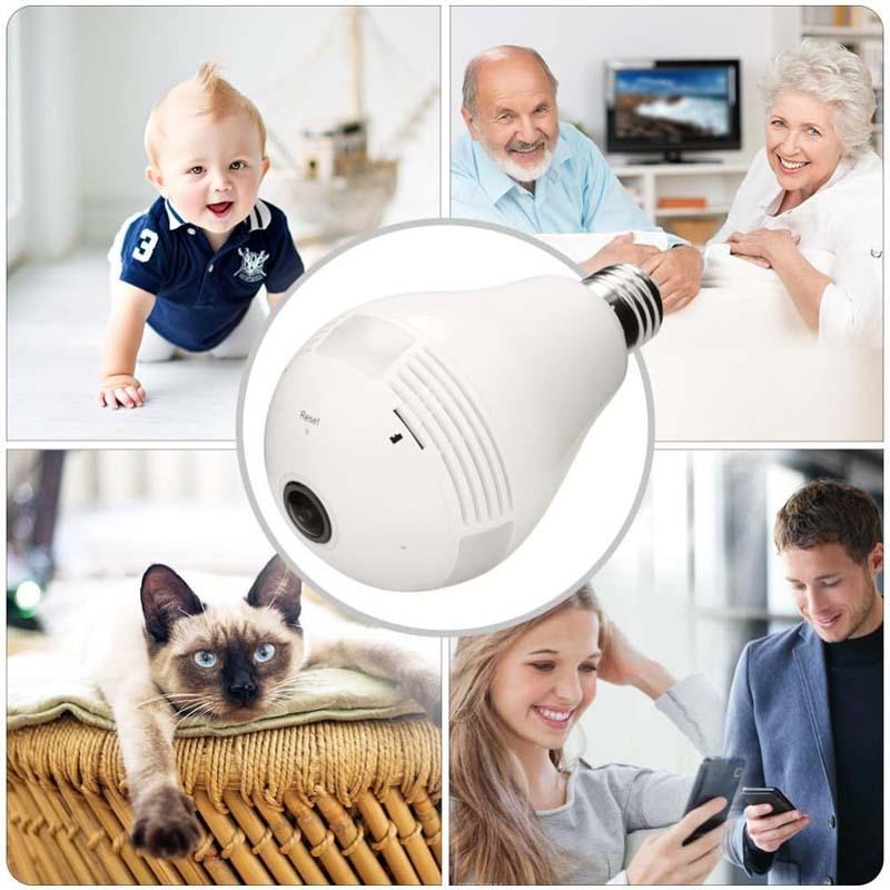 Wi-Fi-Light-Bulb-Camera-HD-360-Degree-Panoramic-View